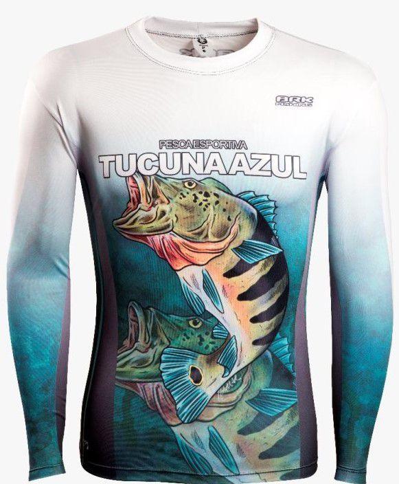 Camisa de Pesca Brk Combat Fish Tucunaré Azul 3.0 com FPU 50+