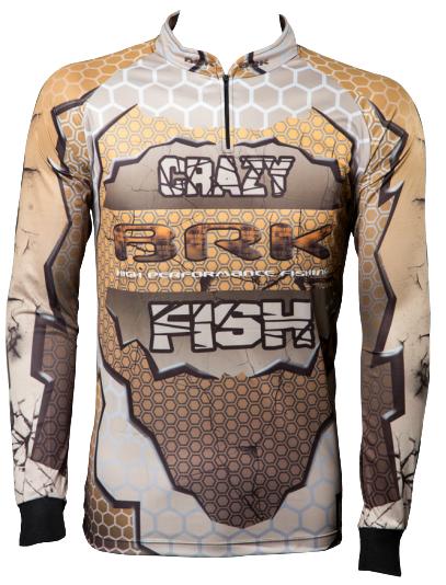 Camisa de Pesca Brk Crazy Fish com FPU 50+