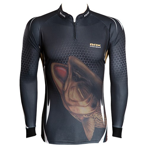 Camisa de Pesca Brk Dourado Bad Fish com FPU 50+