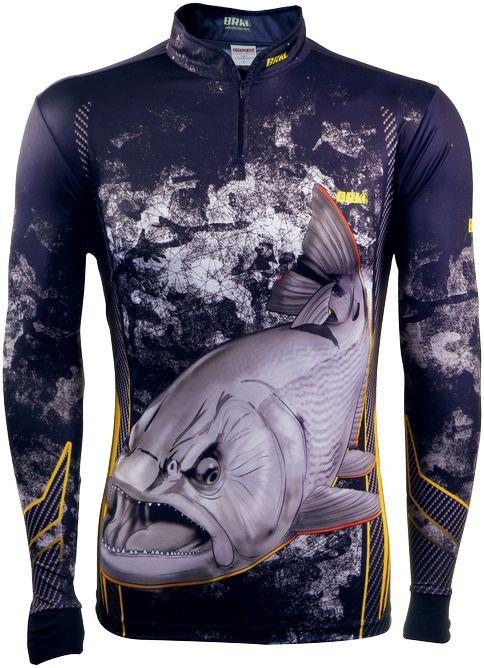 Camisa de Pesca Brk Dourado Black com FPU 50+