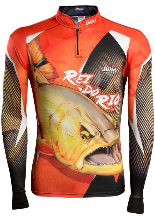 Camisa de Pesca Brk Dourado Rei do Rio 1.0 com FPU 50+