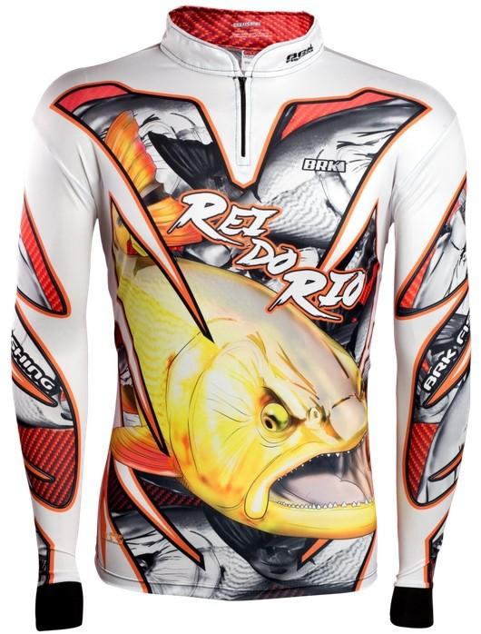 Camisa de Pesca Brk Dourado Rei Do Rio 2.0 com FPU 50+