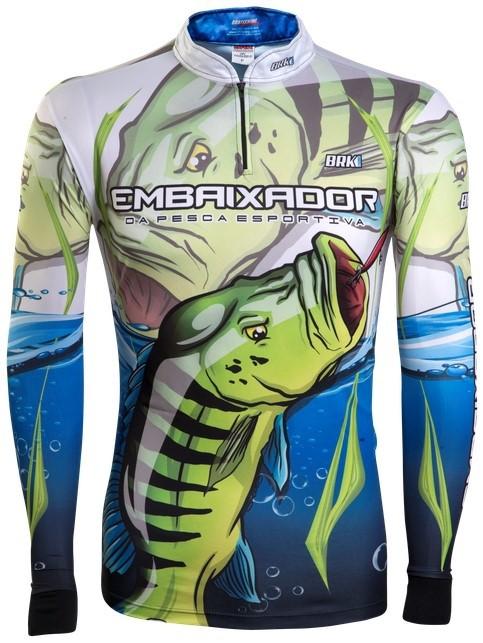 Camisa de Pesca Brk Embaixador da Pesca com FPU 50+