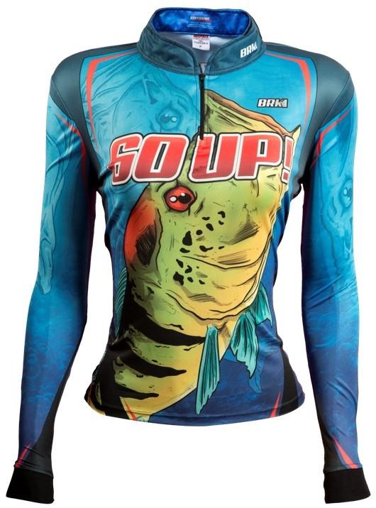 Camisa de Pesca Brk Feminina 60 UP Azul com FPU 50+