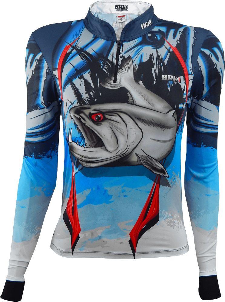 Camisa de Pesca Brk Feminina Cachorra com FPU 50+