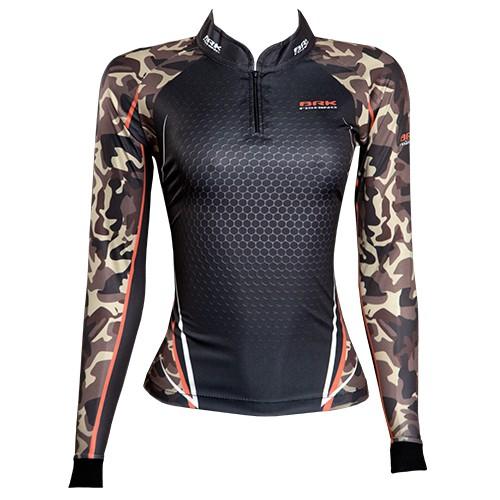 Camisa de Pesca Brk Feminina Dark Military com FPU 50+