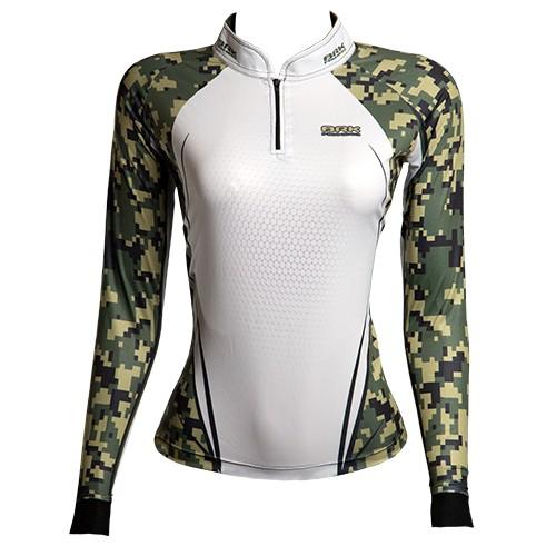 Camisa de Pesca Brk Feminina Military com FPU 50+