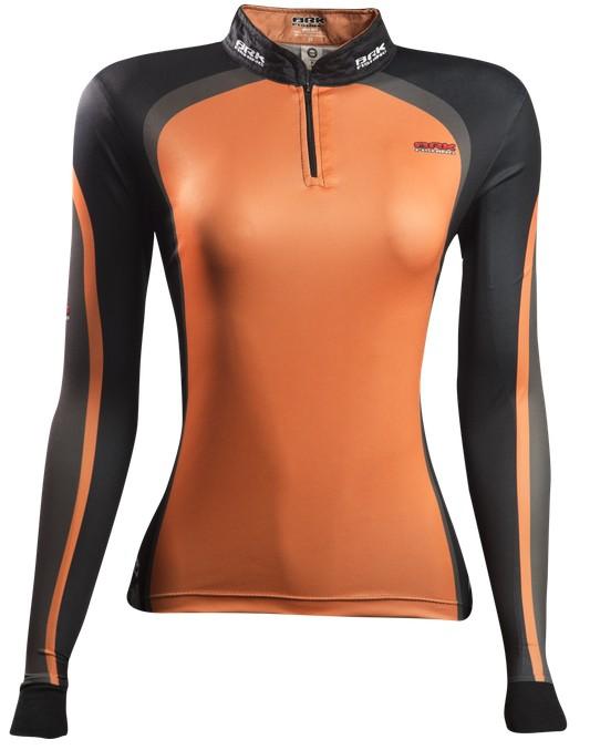 Camisa de Pesca Brk Feminina Orange Black 2.0 com FPU 50+