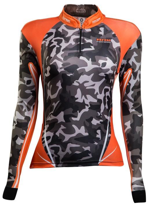 Camisa de Pesca Brk Feminina Orange Masked com FPU 50+