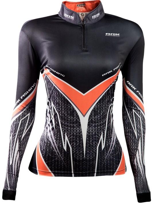 Camisa de Pesca Brk Feminina Orange Víper com FPU 50+