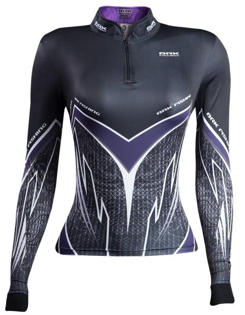 Camisa de Pesca Brk Feminina Purple Víper com FPU 50+