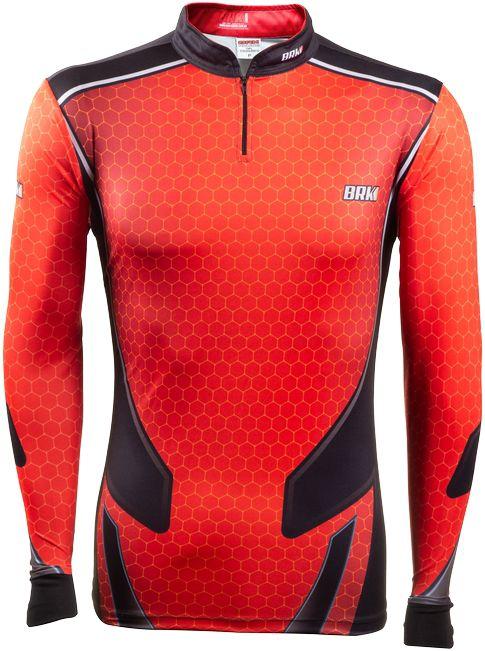 Camisa de Pesca Brk Fishing Life Orange com FPU +50