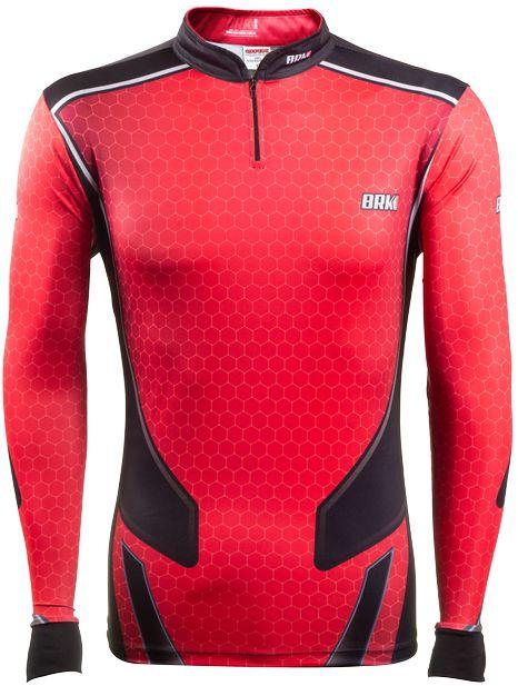 Camisa de Pesca Brk Fishing Life Red com FPU 50+