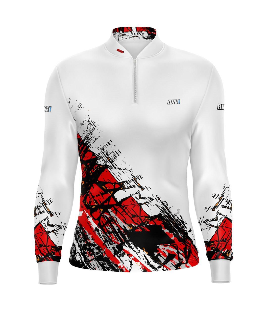 Camisa de Pesca Brk Graphic Branca com Fps 50+