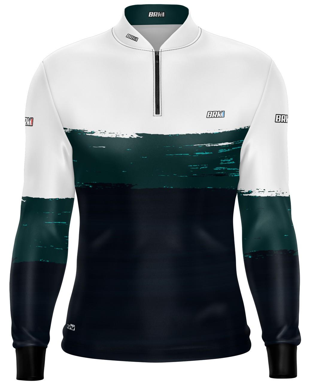 Camisa de Pesca Brk Grounge White com Fps 50+
