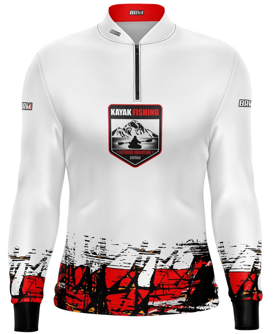 Camisa de Pesca Brk Kayak Fishing Outdoor Branca com Fpu 50+