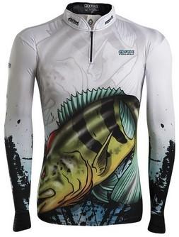 Camisa de Pesca Brk Master Combat Fish Tucunaré Azul 2.0 com FPU 50+