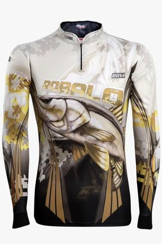 Camisa De Pesca Brk New Robalo 1.0 Fishing Com Fps 50+