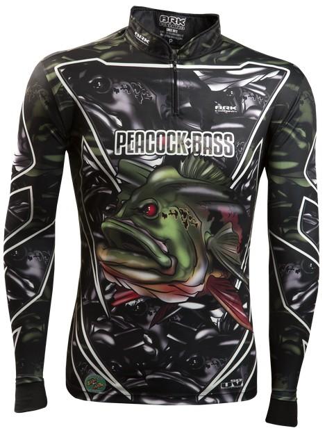 Camisa de Pesca Brk Peacock Bass Amazon com FPU 50+