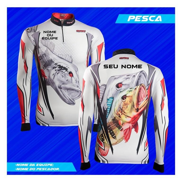 Camisa de Pesca Brk Personalizada Peacock Silver 1.0 com FPU 50+