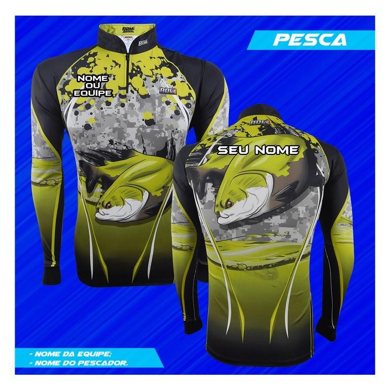 Camisa de Pesca Brk Personalizada Tambaqui com FPU 50+