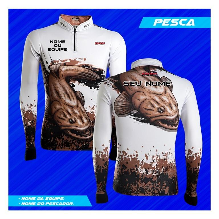 Camisa de Pesca Brk Personalizada Traira 2.0 com FPU 50+