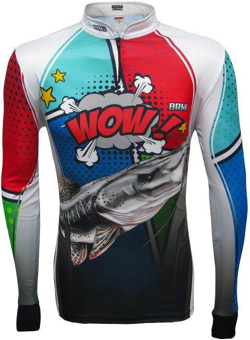 Camisa de Pesca Brk Pintado Pow White com FPU 50+