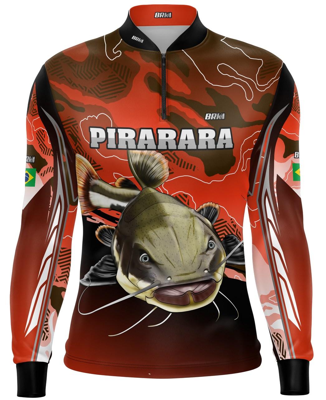Camisa de Pesca Brk Pirarara Waves com Proteção UV 50+