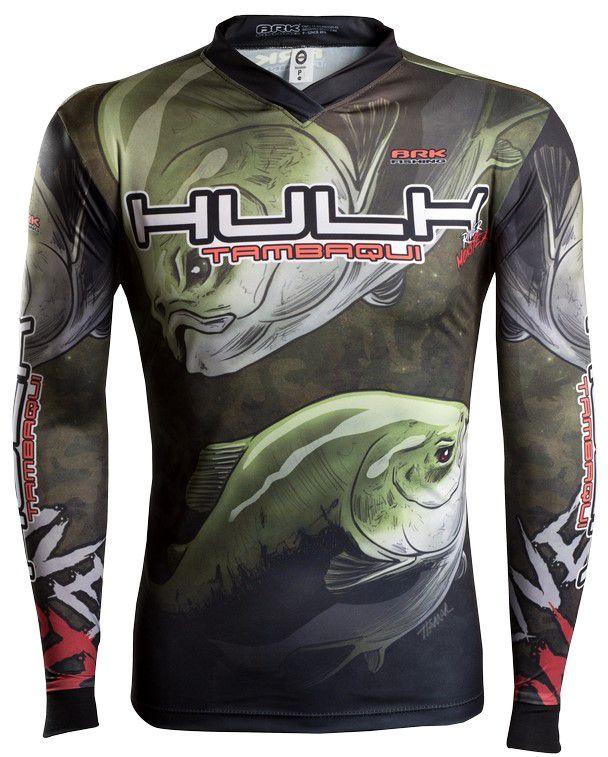 Camisa de Pesca Brk River Monster Hulk Tambaqui GOLA CONFORT V com FPU 50+