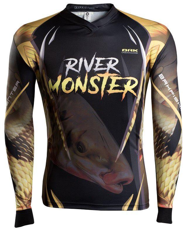 Camisa de Pesca Brk River Monster Piapara GOLA CONFORT V com FPU 50+