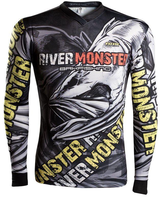 Camisa de Pesca Brk River Monster Skull GOLA CONFORT V com FPU 50+