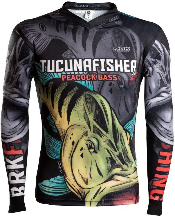 Camisa de Pesca Brk River Monster Tucuna Fisher 1.0 GOLA CONFORT V com FPU 50+