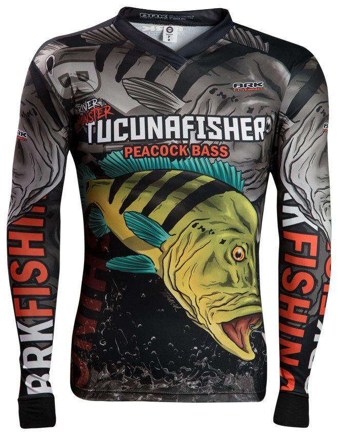 Camisa de Pesca Brk River Monster Tucuna Fisher 2.0 GOLA CONFORT V com FPU 50+