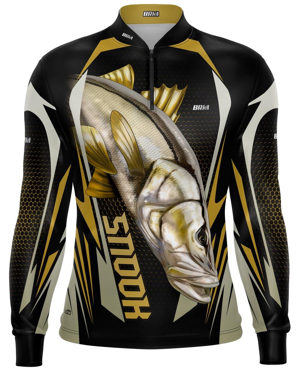 Camisa de Pesca Brk Robalo Preto com Proteção UV 50+