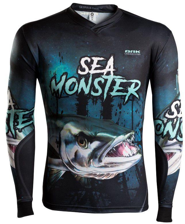 Camisa de Pesca Brk Sea Monster Barracuda GOLA CONFORT V com FPU 50+
