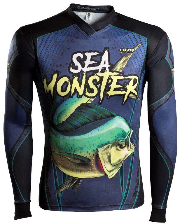 Camisa de Pesca Brk Sea Monster Dourado do mar GOLA CONFORT V com FPU 50+