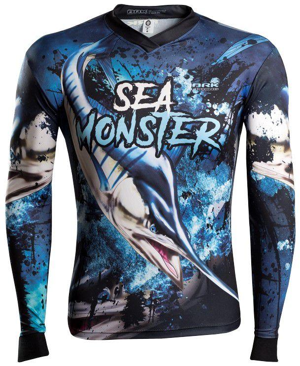 Camisa de Pesca Brk Sea Monster Marlim GOLA CONFORT V com FPU 50+