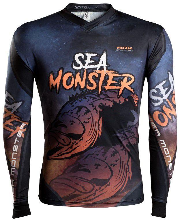Camisa de Pesca Brk Sea Monster Mero GOLA CONFORT V com FPU 50+