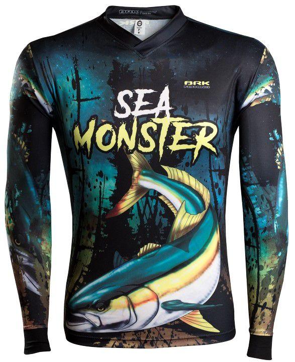Camisa de Pesca Brk Sea Monster Olhete GOLA CONFORT V com FPU 50+