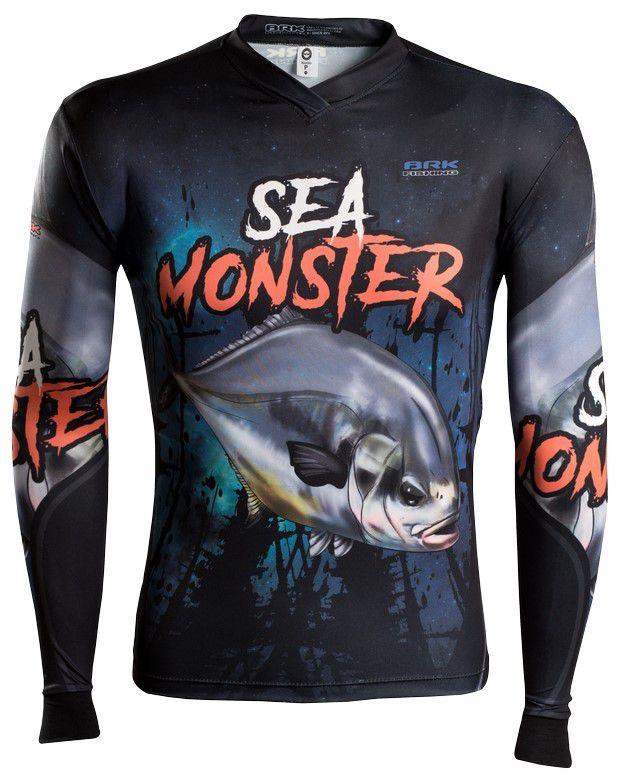 Camisa de Pesca Brk Sea Monster Pampo GOLA CONFORT V com FPU 50+