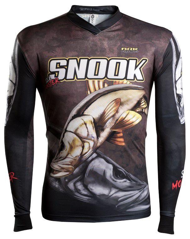 Camisa de Pesca Brk Sea Monster Robalo Snook GOLA CONFORT V com FPU 50+
