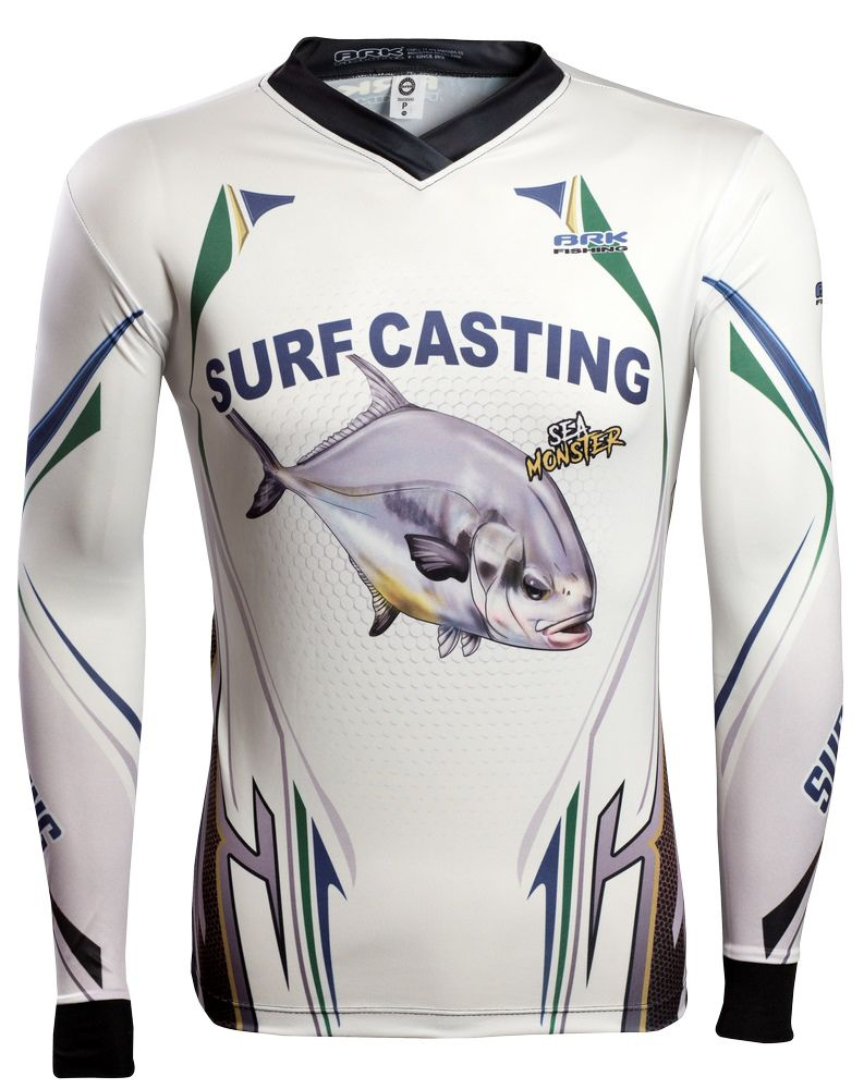 Camisa de Pesca Brk Sea Monster Surf Casting GOLA CONFORT V com FPU 50+