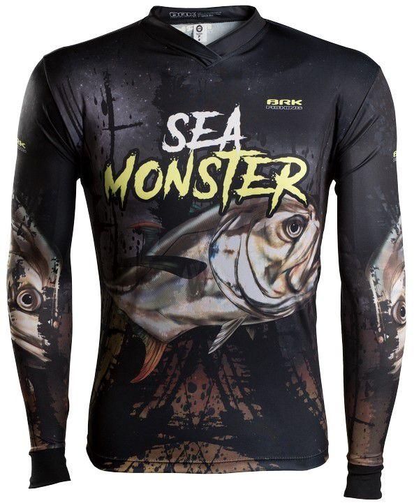 Camisa de Pesca Brk Sea Monster Xáreu do Mar GOLA CONFORT V com FPU 50+