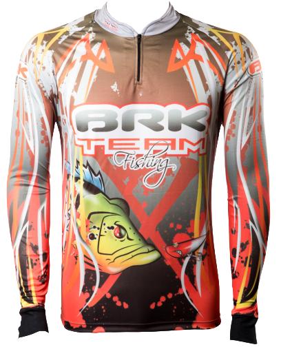 Camisa de Pesca Brk Team Fishing com FPU 50+