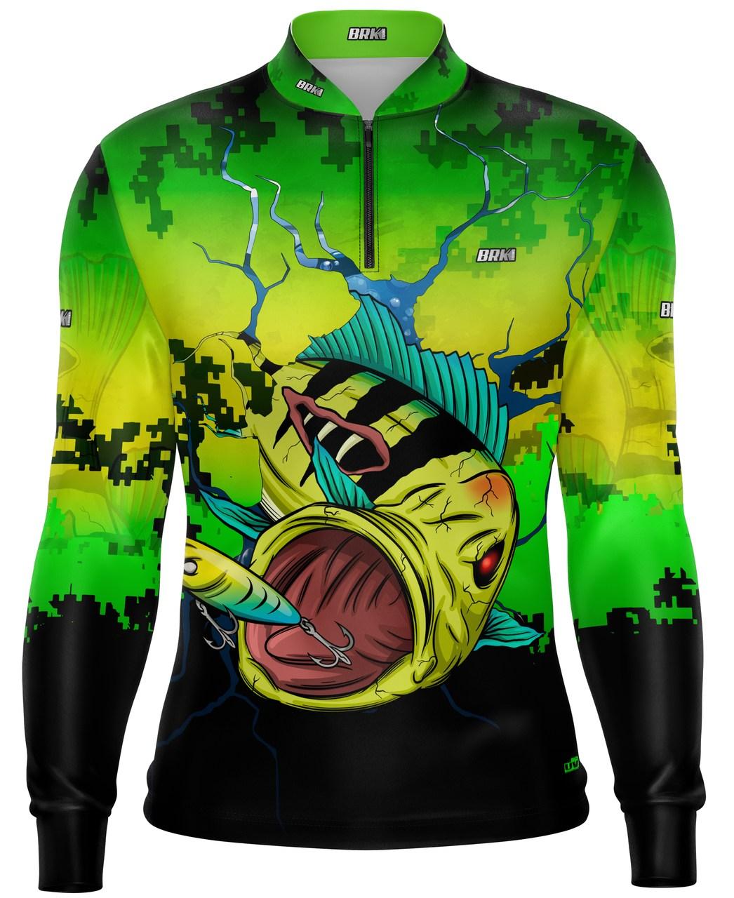 Camisa de Pesca Brk Tucuna Monstro 3D com Proteção UV 50+