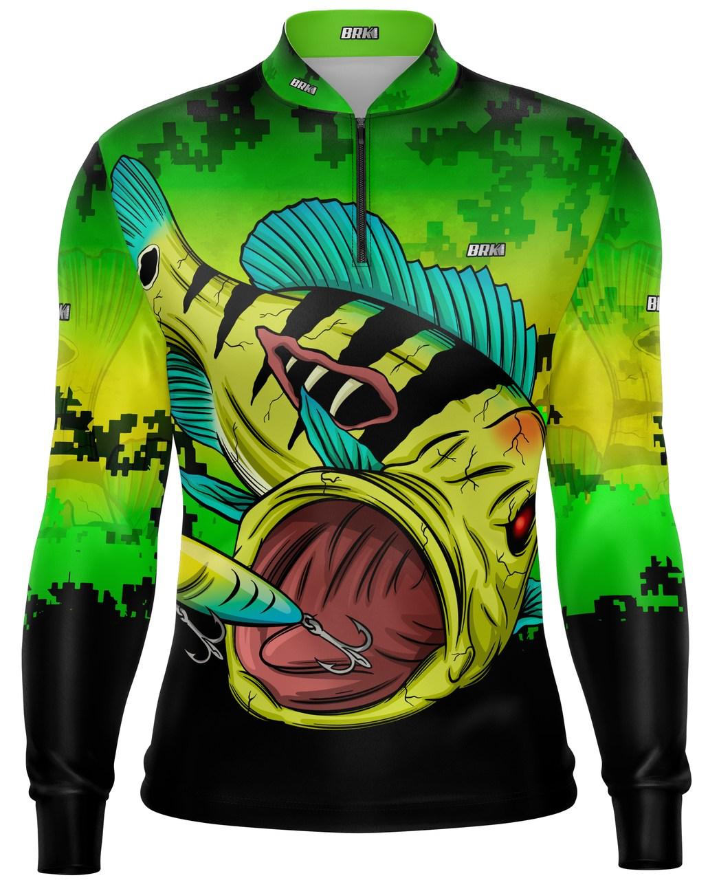 Camisa de Pesca Brk Tucuna Monstro com Proteção UV 50+