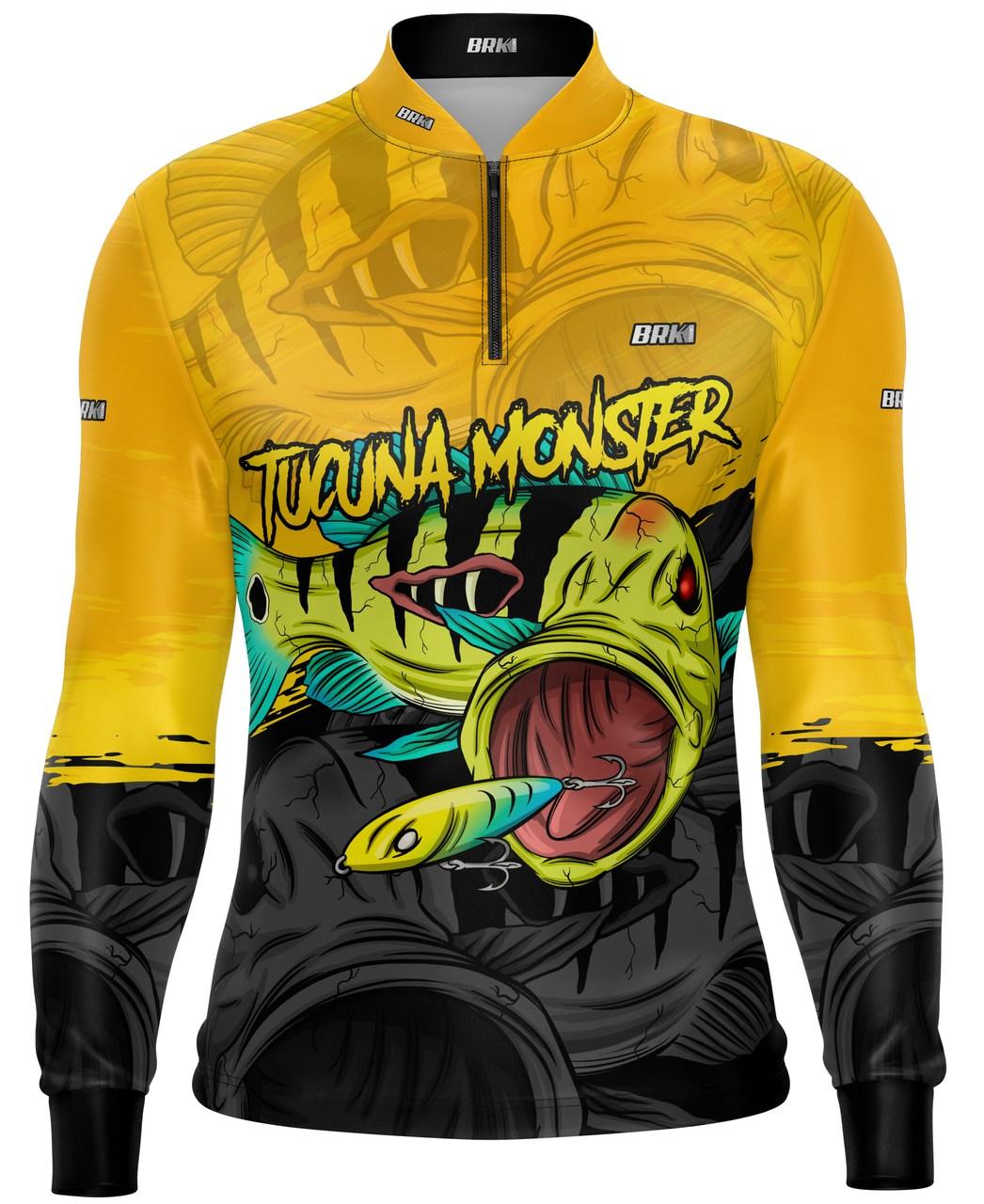 Camisa de Pesca Brk Tucunaré Amarelo com Proteção UV 50+