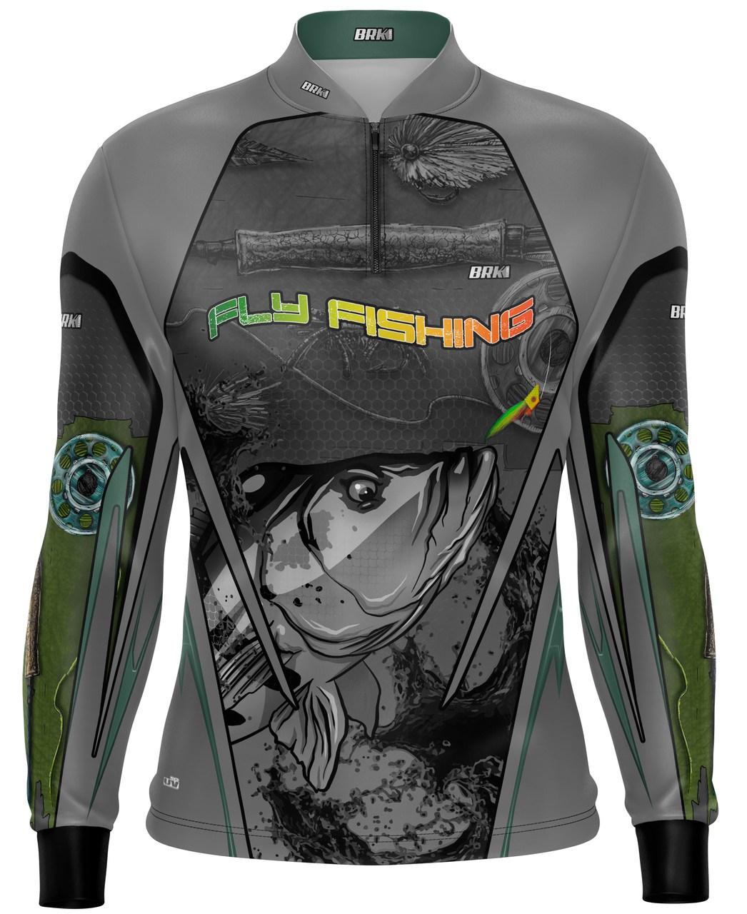 Camisa de Pesca Brk Tucunaré Fly Fishing com Proteção UV 50+