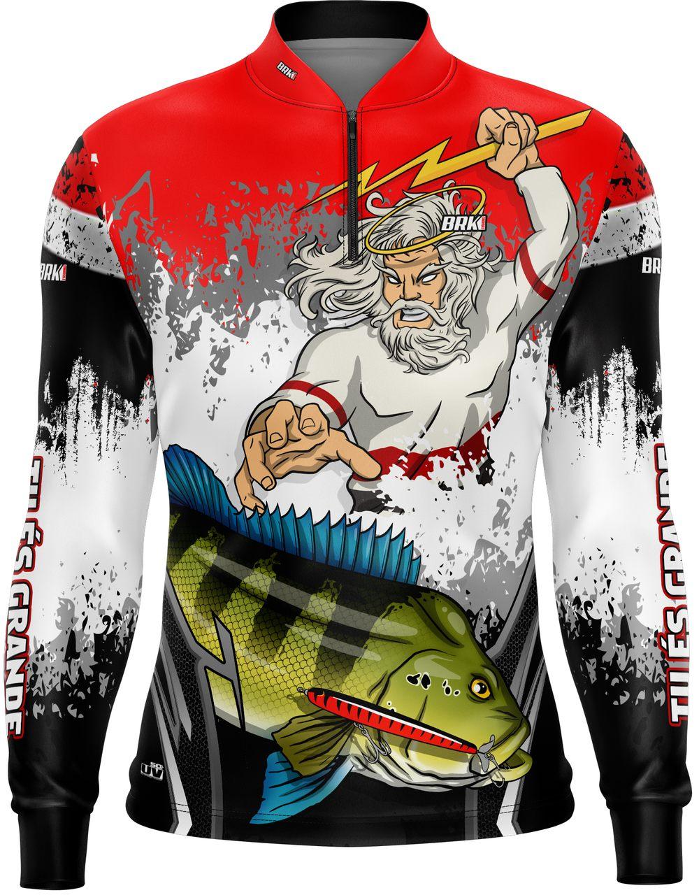Camisa de Pesca Brk Tucunaré Futebol 55 com FPU 50+