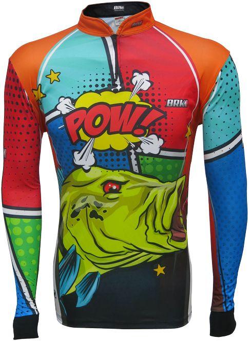Camisa de Pesca Brk Tucunaré Pow Orange com FPU 50+